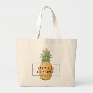 "Diversión y ""fiesta de moda como un Pineapple Bolso De Tela Gigante"