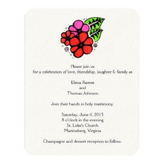 Diversión y invitaciones simples del boda invitación 10,8 x 13,9 cm