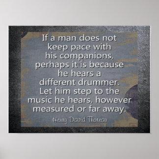 Diverso batería --- Cita de Thoreau - impresión