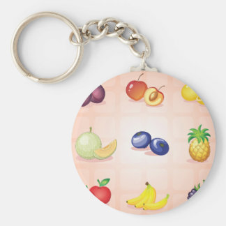 Diverso llavero de las frutas