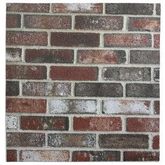 diverso modelo de la pared de ladrillo del color servilleta de tela
