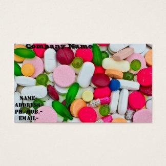 Diversos píldora/medicamento tarjeta de visita