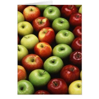 Diversos tipos de manzanas tarjeta