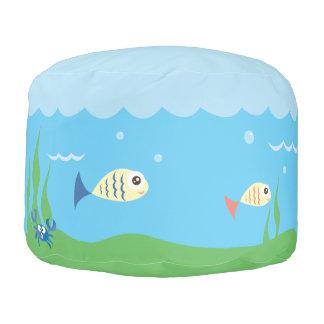 Divertido apenas guarde el nadar de pescados pouf