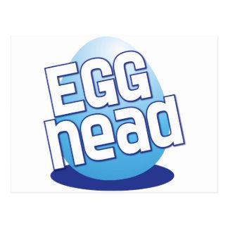 divertido calvo principal de pascua del huevo postal