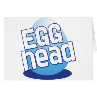 divertido calvo principal de pascua del huevo tarjeta de felicitación
