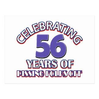 Divertido celebrando 56 años de infierno de postal