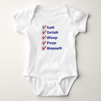 Divertido coma el equipo de la una pieza del bebé body para bebé