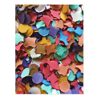 Divertido de papel colorido del carnaval del postal