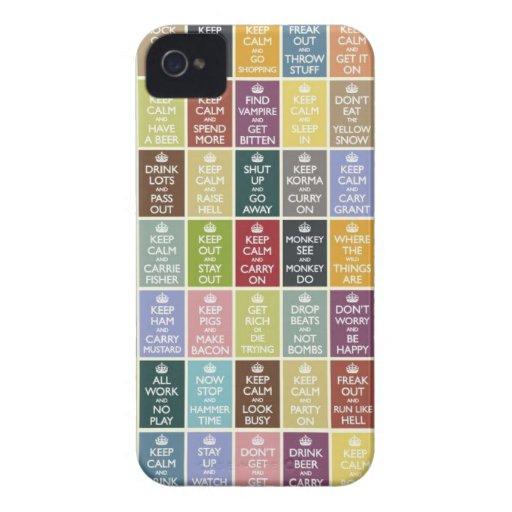 Divertido guarde calma iPhone 4 Case-Mate carcasa