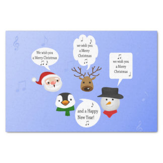 Divertido le deseamos las Felices Navidad - papel