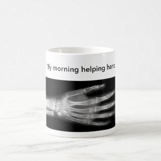 """Divertido """"mi mano amiga de la mañana """" taza de café"""