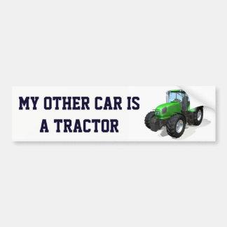 """Divertido """"mi otro coche es un tractor """" pegatina para coche"""