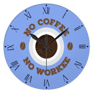 Divertido ningún café ningún reloj de pared de la