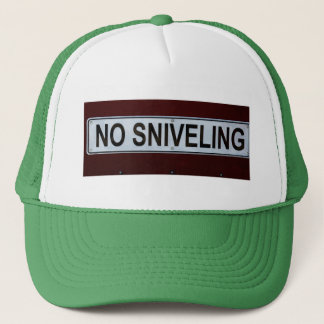 Divertido ninguna muestra del Sniveling Gorra De Camionero