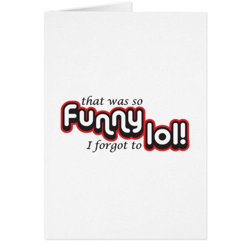Divertido olvidé al lol tarjetas