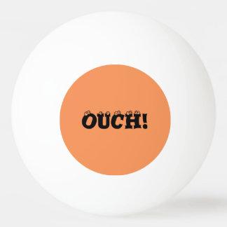 "Divertido ""ouch!"" Bola de ping-pong anaranjada y"