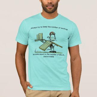 Divertido saque la camiseta del chiste de la