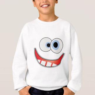 Divertido-Sonrisa (blanco) Sudadera