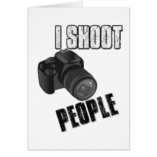 Divertido tiro al fotógrafo de la gente tarjeta de felicitación