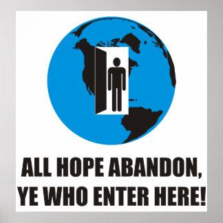 ¡Divertido - todo el abandono de la esperanza, YE  Póster