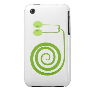 Divertido y alegre caracol verde con espiral Case-Mate iPhone 3 carcasa