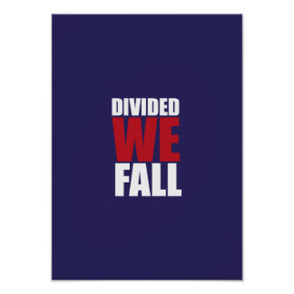 Divided We Fall Patriotism Quotes HQ Posters