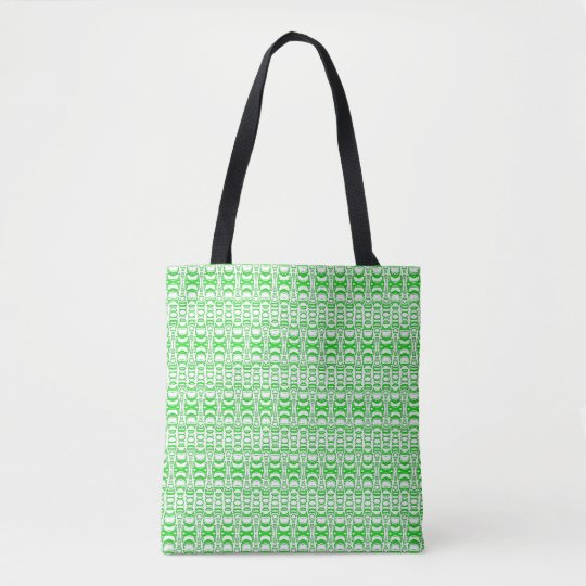 Divisores 07 del modelo en verde sobre blanco bolso de tela