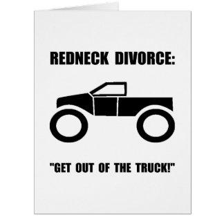 Divorcio del campesino sureño tarjeta de felicitación grande
