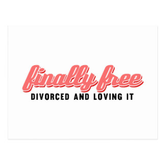 Divorcio divertido finalmente libre postal