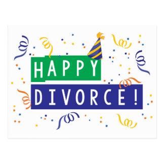 Divorcio feliz postal