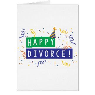 Divorcio feliz tarjeta de felicitación