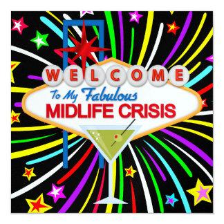 Divorcio - fiesta de la crisis de la media vida - invitación 13,3 cm x 13,3cm