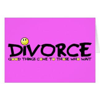 Divorcio ingenioso tarjeta de felicitación