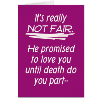 Divorcio no favorablemente tarjeta de felicitación