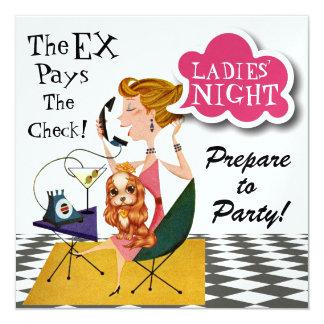 Divorcio - noche de las señoras hacia fuera - SRF Invitación 13,3 Cm X 13,3cm
