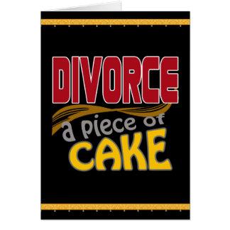 Divorcio - pedazo de torta tarjeta de felicitación