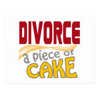 Divorcio - pedazo de torta postal