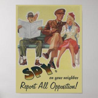 Divulgue a toda la oposición la sátira política poster