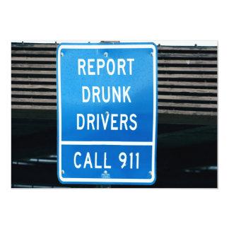 Divulgue los conductores borrachos invitación 12,7 x 17,8 cm