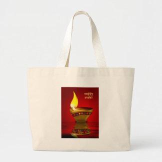 Diwali Diya - ejemplo de la lámpara de aceite Bolsas De Mano
