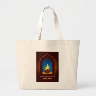 Diwali feliz bolsas lienzo