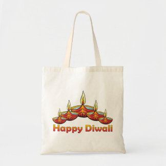 Diwali feliz bolsa tela barata