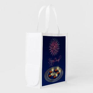 Diwali feliz Ganesha Rangoli - bolso reutilizable