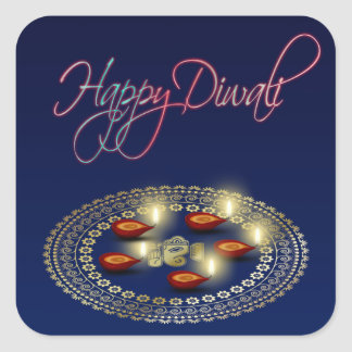 Diwali feliz Ganesha Rangoli - pegatina