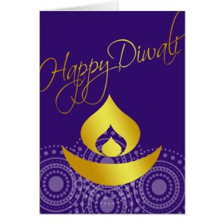 Diwali feliz tarjeta