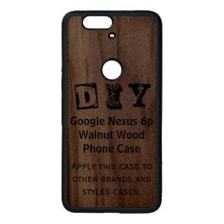 DIY - Caja de madera de la nuez del nexo 6p de Fundas De Madera Para Nexus S6p