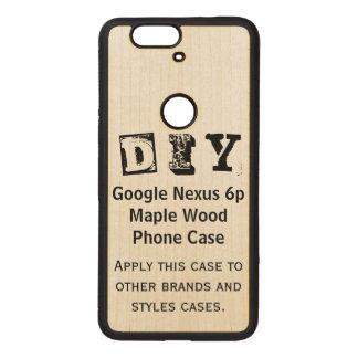 DIY - Caso de madera del arce del nexo 6p de Fundas De Madera Para Nexus S6p