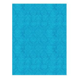 DIY crean su propio damasco del boda de las azules Postal