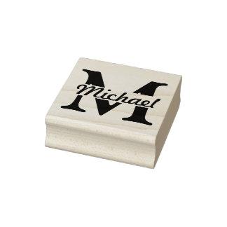 DIY - Simplemente monograma/nombre Sello De Caucho